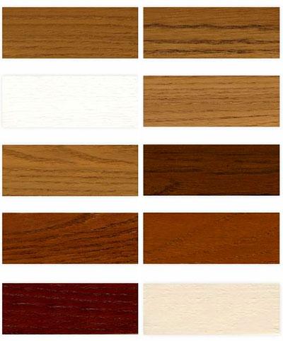 Текстура дерева и различные цвета дубовых окон